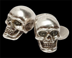 Skull Cuff Links via Alexander McQueen, $155.00