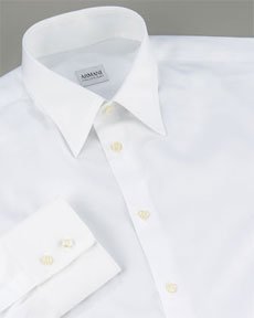 Armani Basic White Dress Shirt via Neiman Marcus, $235.00