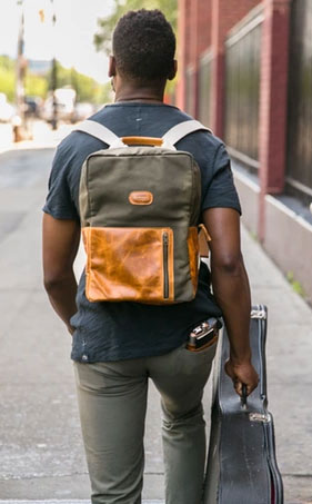The BankNote Backpack in Forest