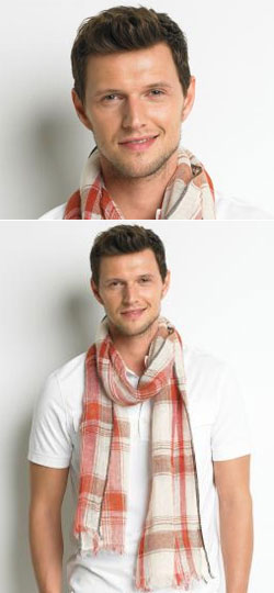 Show Us Your Game Face, Dude! Banana Republic Linen Madras Scarf