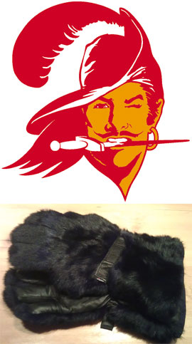 Bucco Bruce Top; Wigens Bearclaw Gloves Bottom via amazon.com, $150.00