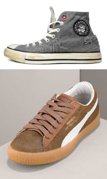 Top: Ramone Converse<br />Bottom: Frankenclydes