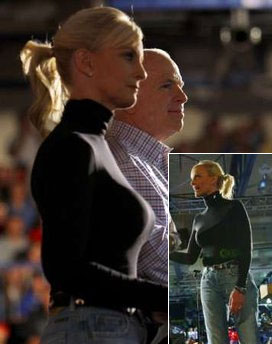 Cindy McCain in Tight-Fitting Top