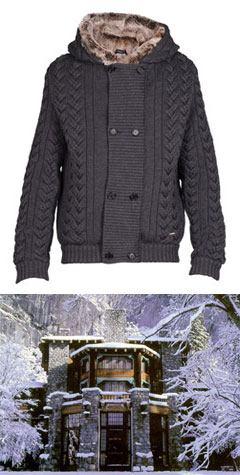 Fur-lined cardigan via Costume National, $1214.00