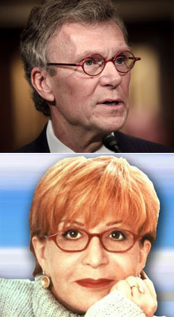Separated at Birth? Tom Daschle and Sally Jesse Rafael