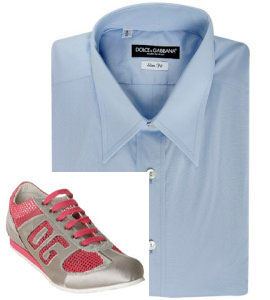 Dolce & Gabbana light blue stretch poplin slim-fit dress shirt via Bluefly, $220.00