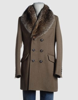 Dsquared2 Gabardine/Fur Coat via YOOX, $1928.00