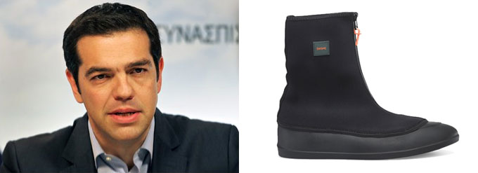 The Global Economy: Anti-austerity for Greece means cheap boots for us.