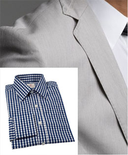 J. Crew suit / Alexander West gingham