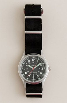 Timex Military Watch via J.Crew, $150.00
