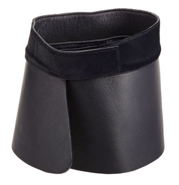 Jil Sander Leather And Calf-Hair Collar via Barneys, $147.25
