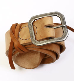 Kenton Sorenson Vegetable Tanned Leather Belt via Context Clothing, $130.00