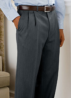 Wool/Cashmere Pleated Pant via Mark Shale, $175.00