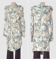 Alexander McQueen Leather Patchwork Coat via YOOX, $630.00