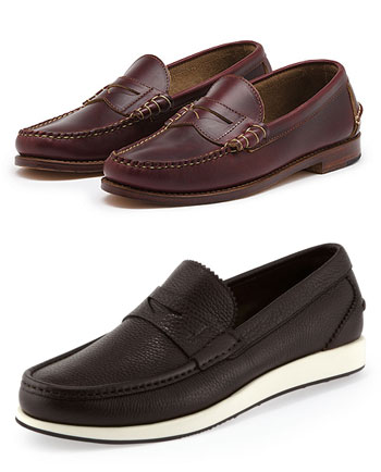 Top: Original Weejuns. Bottom: Ferragamo Twist