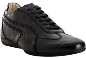 Puma Black Label black leather 'Speedcat Re-Luxe' sneakers via bluefly.com, $168.00