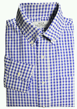 Seersucker Gingham Shirt via Read's Clothing Project, $155.00