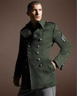 Royal Underground Military Coat via Neiman Marcus, $695.00