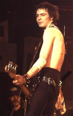 Sid Vicious rocking black jeans