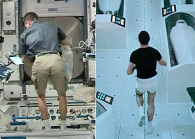 LEFT: The ISS. RIGHT: <em>2001: A Space Odyssey</em>