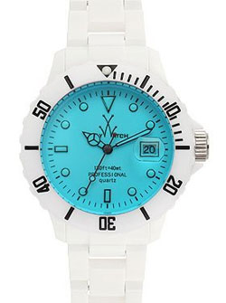 Stained Glass Plasteramic Watch  via Toy Watch, $225.00