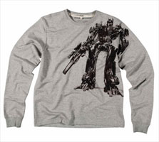 <em>Transformers</em> sweatshirt via fcuk, $80.00