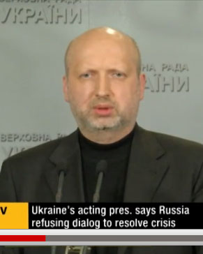 Oleksandr Turchynov, at a press conference March 12, 2014