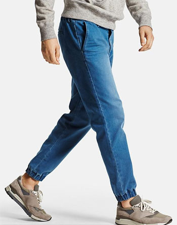 Denim Joggers via Uniqlo, $19.90