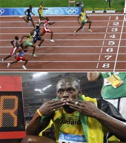 Usain Bolt Wins Gold In Spite of Un-Magnificent Over-Accessorization