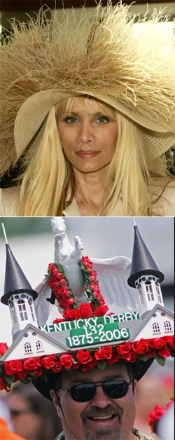 Victoria Gotti (top); Churchill Downs (bottom)