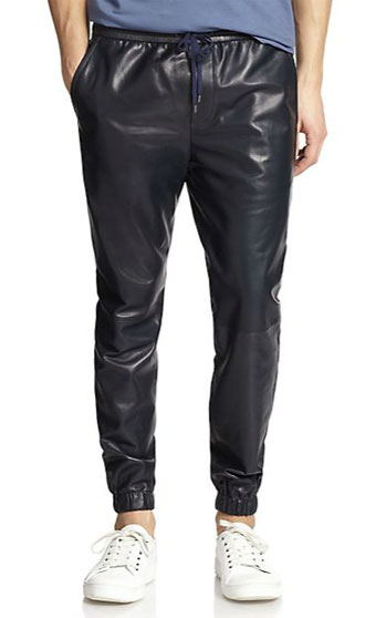 What Kanye Hath Wrought: Vince Leather Jogger Pants via Saks Fifth Avenue, $537.00