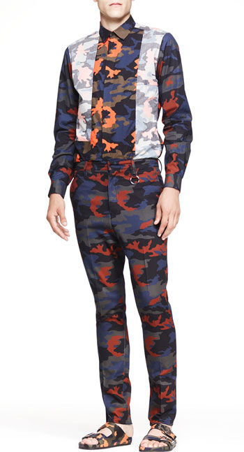 Givenchy Camo-Print Reverse Inlay Shirt & Camo Trousers via Bergdorf Goodman, $825.00